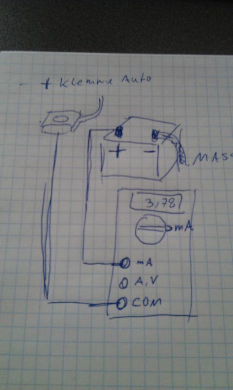 Ruhestrom Multimeter Ablesen Einstellen Elektrik E30