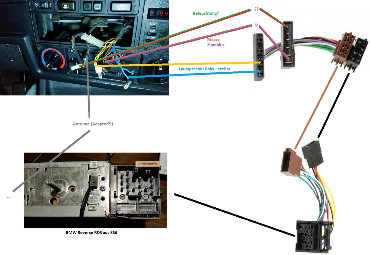 E30 Einzelkabeladapter auf Blockstecker - Car-HiFi & Navigation ...