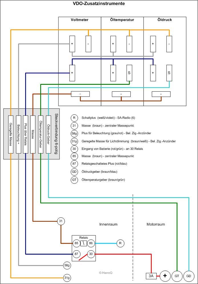 Wunderbar Vdo Voltmeter Schaltplan Ideen - Elektrische Schaltplan ...