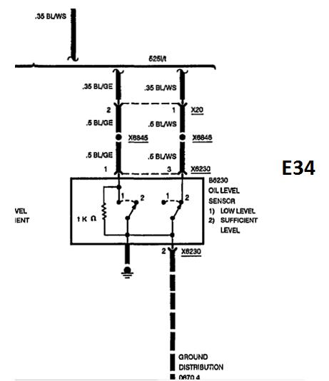 anschluss m50 lniveausensor elektrik e30. Black Bedroom Furniture Sets. Home Design Ideas