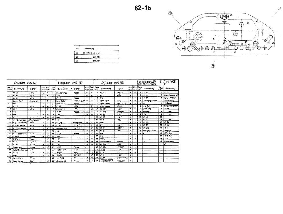 Schaltplan / Belegungsliste Kombiinstrument gesucht - Elektrik - E30 ...