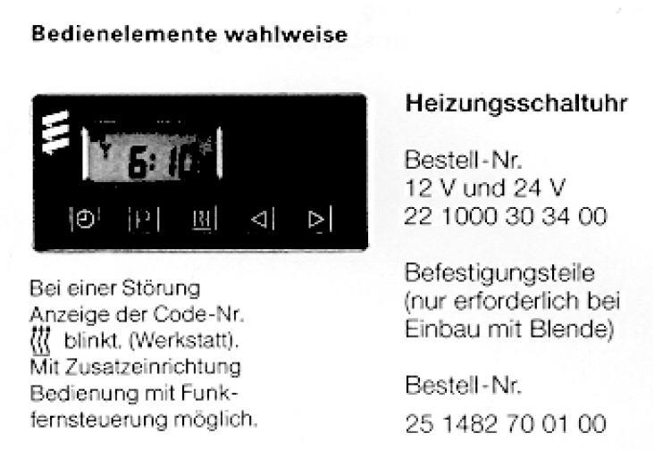 Eberspächer D5W Standheizung - Elektrik - E30-Talk.com